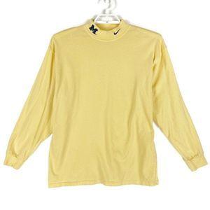 VTG Michigan Wolverines Nike Team Sweater L Yellow